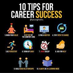 10 tips for career success / infographic - 10 tips for career success / infographic - Study Motivation Quotes, Business Motivation, Business Quotes, Business Ideas, Business Opportunities, Personal Development Skills, Self Development, Inspiration Entrepreneur, Career Success