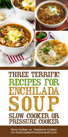 Frugal Food Items - How To Prepare Dinner And Luxuriate In Delightful Meals Without Having Shelling Out A Fortune Three Terrific Recipes For Enchilada Soup Slow Cooker Or Pressure Cooker - Slow Cooker Or Pressure Cooker Slow Cooker Casserole, Slow Cooker Soup, Slow Cooker Recipes, Crockpot Recipes, Chicken Enchilada Soup, Enchilada Recipes, Recipe For Enchilada Soup, Chicken Soup, Chili Recipes