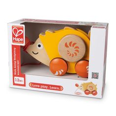 Encourage your child to make first steps and be active with Hape Walk-a-Long Hedgehog. Manufactured by Hape. Recommended for 12 to 24 months.