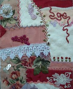 crazy quilt gallery C by Annie Whitsed..made by Debbie Smith and Annie Whitsed