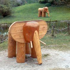 Richter Spielgeräte: wooden elephants!