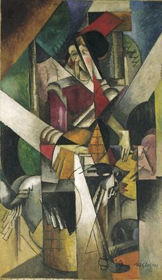 Man on a Balcony (also known as Portrait of Dr. Théo Morinaud and ' L'Homme au balcon), is a large oil painting created in 1912 by the French artist, theorist and writer Albert Gleizes (1881–1953). Description from quazoo.com. I searched for this on bing.com/images