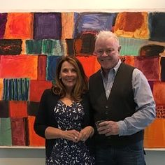 @dianestewart and @dickjemison together  on opening night of Limelight. Check out our blog to learn more on Dick Jemison's process behind his new body of work. #abstract #abstractart #artoftheday http://ift.tt/2cR8Kpg