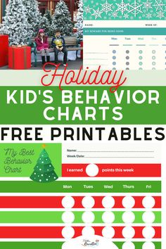 Free printable behavior charts for kids can help redirect toddlers, preschoolers and kids towards better behavior or to work on a goal. Click through for positive parenting tips on how good behavior charts work, appropriate tasks and ideas for goals and prizes. 11 free seasonal holiday printables and general themes as well as Disney, unicorn, race cars and more! #Behavior #Parenting #Kids #Printables #FreePrintables #BehaviorCharts #KidsCharts