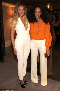 Sister act: Solange made her way to catch a flight to NYC - where her sister Beyonce lives...