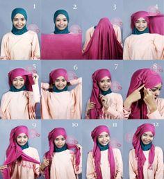 Not-so-turban Hijab...nice...