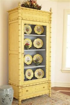 Tips for Shabby and Chic Vintage Cupboard Design Ideas Repurposed Furniture, Shabby Chic Furniture, Vintage Furniture, Painted Furniture, Painted Armoire, Refinished Furniture, Furniture Makeover, Diy Furniture, Plywood Furniture