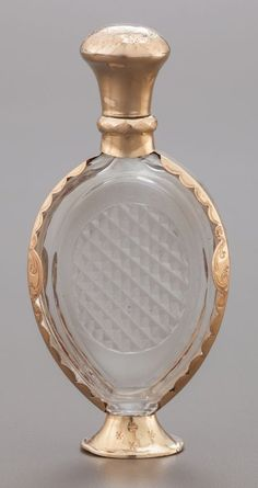 68079: A CONTINENTAL GLASS AND 14K GOLD MOUNTED PERFUME : Lot 68079