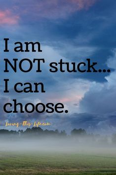 We can all choose how to live our lives. I choose to get out of the rut!