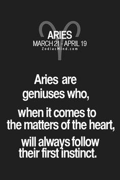 Aries are geniuses