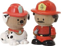 Play Town: Fireman/ Dalmatian 2-Pack by Learning Curve Brands, Inc.. $14.49. Board Book included. Fireman Jose and Freckles The Dalmation. Real Wood. Play Town 2-pack. The folks of Play Town are made of durable wood, with chunky-sized figures for easy grasping by little hands.