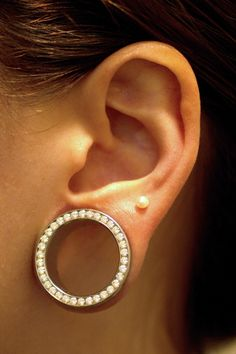 anatometal jewelry stretched ears #piercing  Hmm... I have those tunnels, all I need is that translobe piercing *evil laugh*