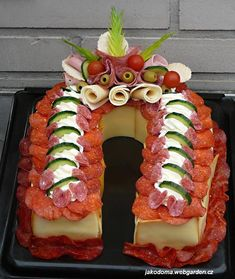 Creative Kitchen, Creative Food, Party Platters, Food Platters, Sandwich Cake, Sandwiches, Cute Food, Good Food, Salty Cake