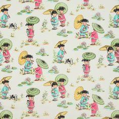 Michael Miller designer fabric Chinese Girls park 2