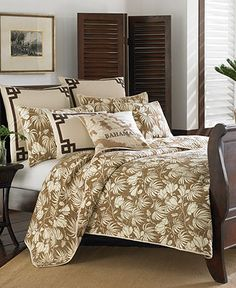 Tommy Bahama Home, Plantation Floral Coconut Quilts - Bedding Collections - Bed & Bath - Macy's Bridal and Wedding Registry