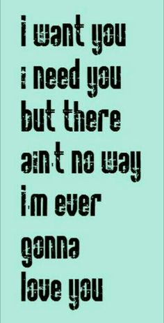 Meatloaf - Two Out of Three Ain't Bad song lyrics, I have had this song stuck in my head all day! Lost Alone does a great cover! Great Song Lyrics, Lyrics To Live By, Song Lyric Quotes, Music Quotes, Music Lyrics, Sound Of Music, Music Love, Music Is Life, My Music