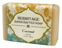 Coconut bar soap, made by the monks at a monastery in West Virginia. A tropical twist of creamy coconut milk and cool vanilla, this fresh, clean scent will transport your senses to Caribbean sands, sunshine and gentle ocean breezes .