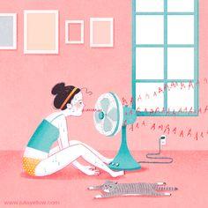 Petunia: Naquele dia de calor infernal, tudo que petunia queria era jogar tudo do ventilador