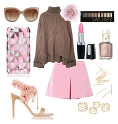 """""""Model style(contest #2)"""" by natasha1234 ❤ liked on Polyvore featuring Love Moschino, Kate Spade, Isadora, Rupert Sanderson, Forever 21, Essie, Accessorize and STELLA McCARTNEY"""
