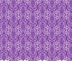 Purple Grey Damask fabric by darkrose on Spoonflower - custom fabric