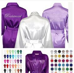 Set of 6  Bridesmaid Robes, Satin Bridesmaid robes, Bridesmaid gifts, Bridesmaid - Get Ready Wedding Day Robes - Applewood Lane by TheApplewoodLane on Etsy https://www.etsy.com/listing/387017350/set-of-6-bridesmaid-robes-satin