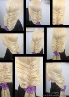 Cute and easy braid  可愛和易於編織leuke  vlecht trenza linda y fácil सुंदर और ...