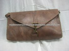 bastante marroquíes hechos a mano bolso de cuero bolso