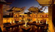 The exterior of the Banyan Tree, Mexico. Looks awesome.