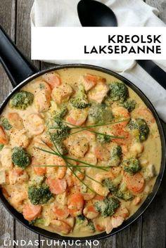 Kreolsk laksepanne fra Linda Stuhaug - en sikker middagvinner!   Sunn middag   Enkel middag   Sommeroppskrifter   Middag med fisk   Fiskemiddag