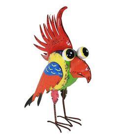 Love this Green & Orange Bird Statue on #zulily! #zulilyfinds