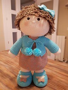 Crochet Dollies, Lily, Teddy Bear, Dolls, Animals, Hand Crafts, Crocheting, Crochet Dolls, Crochet Stitches