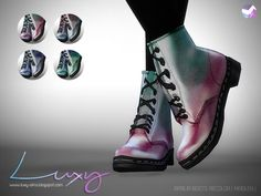Aprilia Boots recolor at Luxy Sims via Sims 4 Updates
