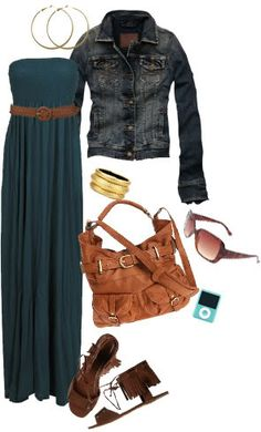 "late summer early fall maxi dress outfit...something to do with all the maxi dresses I ""maxed"" out on this summer!"