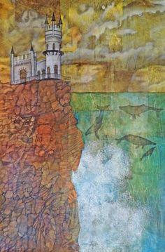 "Saatchi Art Artist Sabrina J Squires; Painting, ""Whale Cliff"" #art"