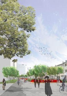 Kievit in Green   Antwerp Belgium   HOSPER #landscape #architecture #render #concept