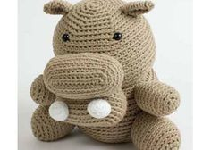 Hugo the amigurumi hippo is a great way to practice crochet skills or a quick project!