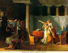 Jacques-Louis David. The Lictors Returning to Brutus the Bodies of His Sons. Olgas Gallery.