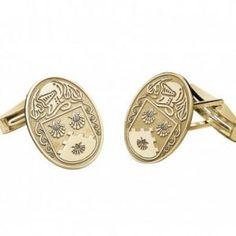 Add your Coat of Arms to fab gold cufflinks Coat Of Arms, Celtic, Cufflinks, Sterling Silver, Gold, Accessories, Jewelry, Jewlery, Jewerly