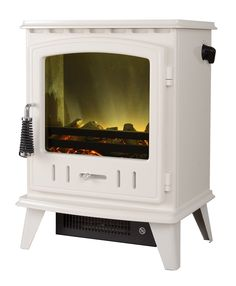 Adam Aviemore Electric Stove in Ivory - Detail 3