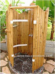 Kit toilette s che sur mesure pour cabane existante ou votre wc d 39 int r - Douche exterieure bois ...