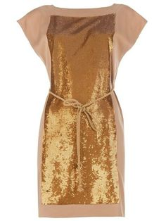 Robert Rodriguez Silk Sequin Panel Dress