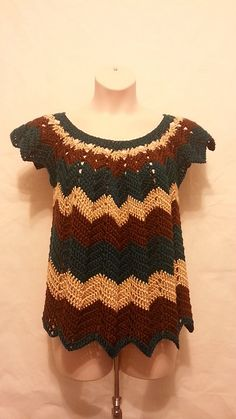 Ravelry: Crochet Womens Plus Size Chevron Shirt Top Blouse pattern by Crystal Doedtman