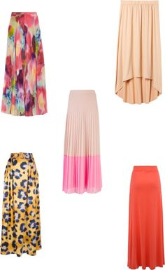 """""""maxi skirts"""" by lillianeasterling ❤ liked on Polyvore"""