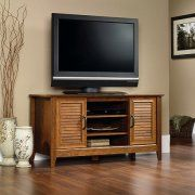 """Sauder Milled Cherry Panel TV Stand for TVs up to 47"""" Image 1 of 2"""
