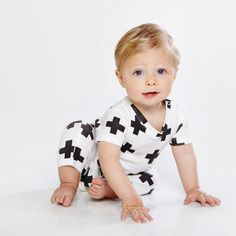 CROSSES ROMPER from HUX BABY