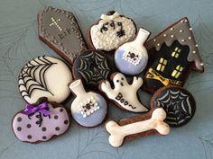 more Halloween cookies