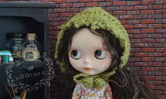 Knitting/Crochet Bonnet/Hats  OliveDrab