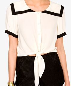 Georgette Sailor Top | FOREVER21 - 2035996194