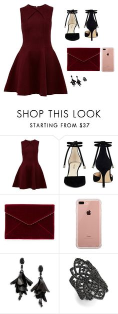 """Untitled #603"" by psoto-1 ❤ liked on Polyvore featuring Ted Baker, Nine West, Rebecca Minkoff, Belkin, Oscar de la Renta and Noir"