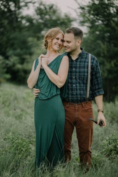 Reigh Walker Photography || Mercy & Daniel || Romantic Dallas Engagement Session || Hipster style || Green Gown || Pipe
